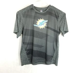 Miami Dolphins Majestic Gray T-Shirt Size XL